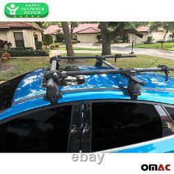 Fits Ford Focus Hatchback 2012-2018 Smooth Roof Rack CrossBar Carrier Rail Black