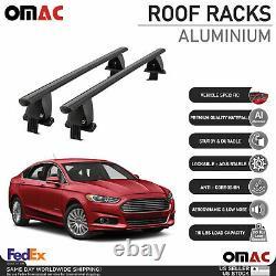 Fits Ford Fusion Sedan 2013-2020 Smooth Roof Rack Cross Bar Carrier Rail Black