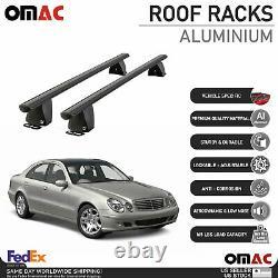 Fits Mercedes E Class Sedan 2003-2009 Fixed Point Roof Rack Rail Cross Bar Black
