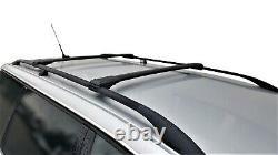 For Audi A4 B5 Avant 1994-2001 Lockable Aerodynamic Cross Bars Roof Rack BLACK