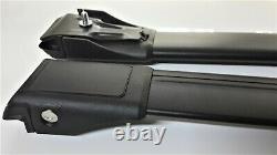 For Audi A4 B6 Avant 2001-2005 Lockable Aerodynamic Cross Bars Roof Rack BLACK