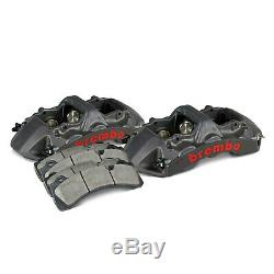 For Audi RS3 17-19 Brembo GT-S Series 6-Piston Black Anodized Front Caliper Kit