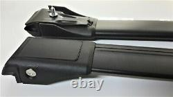 For BMW 3 Series E46 Touring 1999-2005 Lockable Aero Cross Bars Roof Rack BLACK