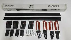 For BMW 5 Series E39 Touring 1997-2004 Lockable Aero Cross Bars Roof Rack BLACK