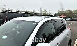 For Volvo XC70 2007-2016 Lockable Aerodynamic Cross Bars Roof Rack BLACK