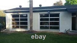 Full View 8' x 7' Black Anodized Aluminum & Tempered Clear Glass Garage Door
