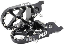 HONDA CRF150R CR125 / CR250 CRF250 / CRF450R Black Foot pegs FLO