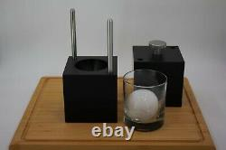 Ice Ball Press 65mm (2.55) Ice Ball Maker Ice Sphere Mold- Black Anodize