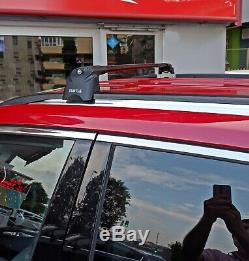 Jeep Compass Roof Rack-Crossbars Fits to for Flush Roof Rails Black Color