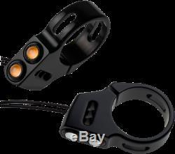 Joker Machine Black 39mm Front Fork Amber LED Rat Eye Turn Signals Harley