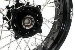 KKE 2.519/4.2517 CUSH Drive Supermoto Wheels Rim Fit SUZUKI DR650SE 1996-2020