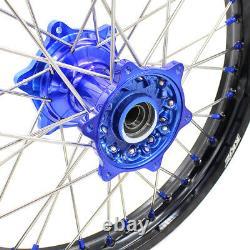 KKE 21/18 Cast Wheels Rim Set For Yamaha YZ125 250 99-2021 YZ250F 450F 03-2021