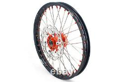 KKE 21/18 Casting Wheels Set For K EXC SXF XCW 125 350 400 505 2003-2021 Discs