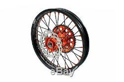 KKE 21/18 Enduro Wheels Rims Set Fit KTM EXCR EXCF EXCW 125-530 2003-2020 Black