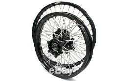KKE 21/18 Enduro Wheels Rims Set Fit SUZUKI DRZ400 DRZ400S 2000 DRZ400E DRZ400SM