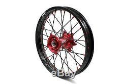 KKE 21/18 Enduro Wheels Rims Set For HONDA CRF 250R 2004-2013 450R 2002-2012 BLK
