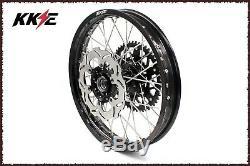 KKE 21/18 Enduro Wheels Rims Set For SUZUKI DRZ400S 00-19 DRZ 400 400E Disc BLK