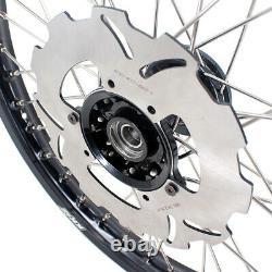 KKE 21/19 Cast Motorcycle Wheels Rims Set For CR125R 98-2001 CR250R 1997-2001