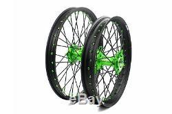 KKE 21/19 MX Dirt Bike Wheels Rim Set For KAWASAKI KX250F KX450F 2006-2018 Black