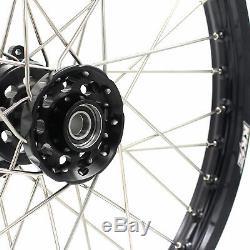 KKE 21/19 Mx Wheels Rims Set Fit HONDA CRF250R 2004-2013 CRF450R 2002 Black Hub