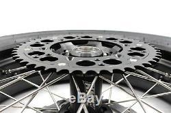 KKE 3.5/4.25 Supermoto Wheels CST Tires For SUZUKI DRZ400 DRZ400E DRZ400S Black