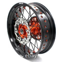 KKE 3.5/4.25 Wheels Rims for EXC EXC-F SX SX-F XC XCF XCW XCF-W Black Spoke Disc