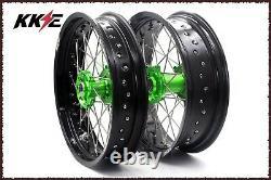 KKE 3.5/4.2517 Supermoto Spoked Wheels Rims Set KAWASAKI KX250F KX450F 2006-18