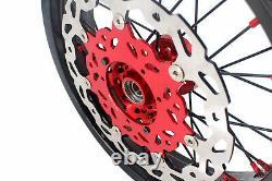 KKE 3.517/4.2517 Fit HONDA CRF250R CRF450R 2002-2012 Supermoto Wheels Rims Set