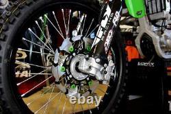 Kawasaki Kx250f/kx450f 280mm Front Brake Rotor Spider Black / Green Rings