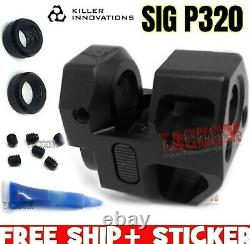 Killer Innovations Comp Compensator Muzzle Brake 9mm for SIG P320 Black Anodized