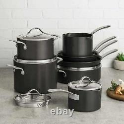 Kirkland Signature 12 PC Hard Anodized Cookware Pot & Pan Set NEW
