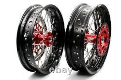 Kke 17 Inch Supermoto Wheel Rim Set Fit Honda Xr400r 1996-2004 Xr600r 1991-2000