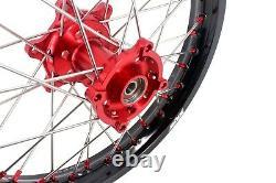 Kke 21 18 Enduro Spoke Wheel Rim Set Fit For Xr650l 1993-2020 Oem Size Red Hub