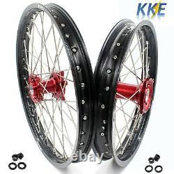 Kke 21/18 Enduro Wheel Rim Fit Honda Cr125r Cr250r 96-99 Cr500r 96-2001 Red Hub