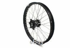 Kke 21/18 Enduro Wheel Rim For Suzuki Drz400sm 2005-2018 Drz400e 2000-2007 Black