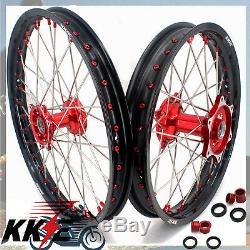 Kke 21 19 Casting MX Spoked Wheel Rim Set For Honda Crf250r 2014-2019 Crf450r