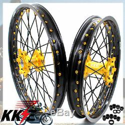 Kke 21 19 Wheel Rim Fit Yamaha Yz125 Yz250 1999-2020 Yz250f Yz450f Gold Nipple