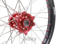 Kke Red Nipple Wheel Fit Honda Cr125r Cr250r 96-99 Cr500r 1996-2001 21/19 MX Rim