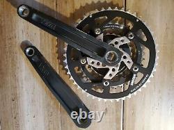 Kooka Mountain Bike Crankset Anodized black rare 175mm Vintage Square Taper USA