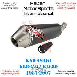 Lexx MXe Kawasaki KLR650 Slip-On Silencer Muffler Exhaust KL 650 KL650 KLR 87-07