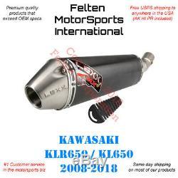 Lexx MXe Kawasaki KLR650 Slip-On Silencer Muffler Exhaust KLR 650 KL650 KL 08-18
