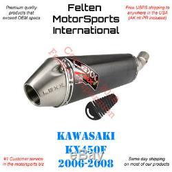 Lexx MXe Kawasaki KX450F Slip-On Silencer Muffler Exhaust KX 450F Lex Pipe 0608