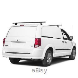 M1000 2-Bar (60 CB) AL Ladder Rack (no acc) Universal for Midsize Vehicle Black