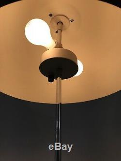 Mid-Century Paul Mayen Habitat Chrome Anodized Black Aluminum Dome Floor Lamp