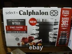 NEW Calphalon Select 9pc Hard-Anodized Nonstick Cookware Set (2058503)
