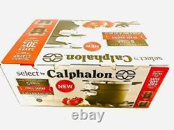 NEW Select Calphalon Space Saving Hard Anodized Nonstick Pasta Cookware 5Pc SET