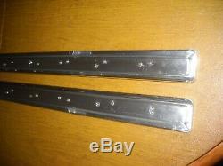 NOS PAIR 1963 IMPALA & 4 Door Wagon Quarter Anodized Aluminum Black Insert Mlds