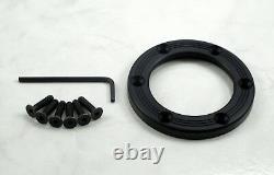 Nardi Personal Horn Button Trim Ring Black Anodized Aluminum Screws at Sight