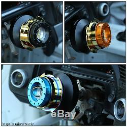 Nrg 6-bolt Aluminum Steering Wheel Quick Release Gen 2.5 Black Body/white Ring
