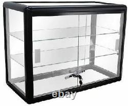 Only Hangers Black Anodized Aluminum Countertop Showcase (NEW)